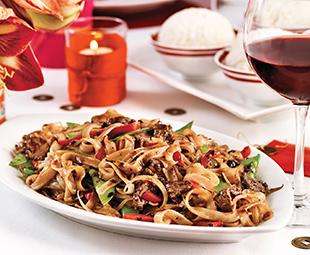 Stir-Fried Beef  Black Beans Rice Noodles
