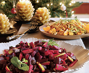 Beet Salad with Apple & Mint