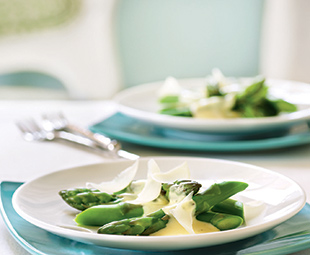 Poached Asparagus with Parmesan Sabayon