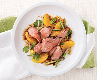Orange and Sichuan Pepper-Crusted Duck Salad