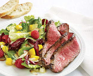 Warm Salad with Honey-Mustard Flank Steak