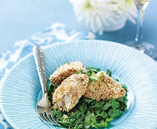 Spicy Panko-Crusted Chicken