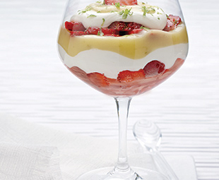 Strawberry Parfaits with Cheesecake Cream