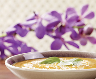 Roasted Sweet Potato & Ginger Soup