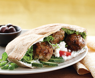 Greek Meatballs in Pita