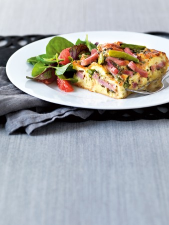 RECIPE - French Brie, Ham and Asparagus Strata