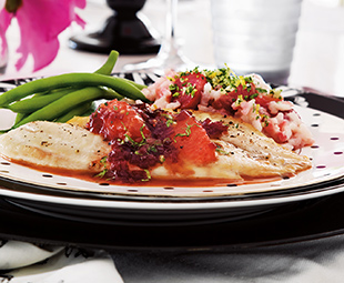 Tilapia with Red Wine & Pink Grapefruit Sauce