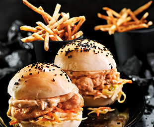 Mini Shrimp Po' Boys with Smoky Matchstick Fries