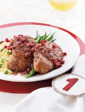Pomegranate-Glazed Pork Medallions with Couscous