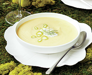 Golden Beet & Fennel Soup with Fennel Horseradish Cream