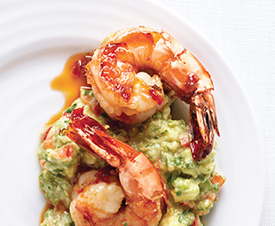 Fire-Roasted Shrimp with Guacamole