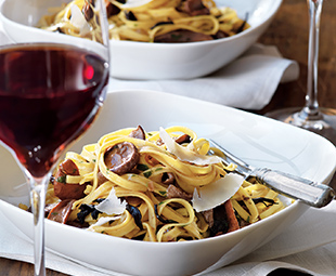 Tagliatelle with Mushroom Barbaresco Sauce