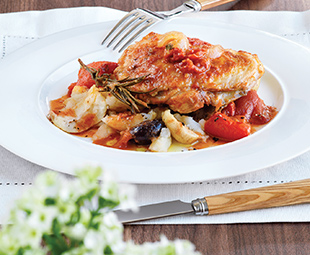 Hunter's Chicken with Rosemary & Roasted Peppers