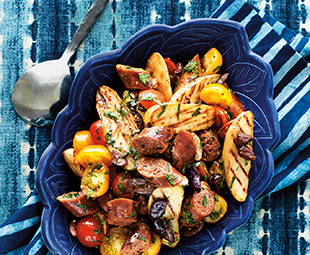 Barbecued Potato & Sausage Salad