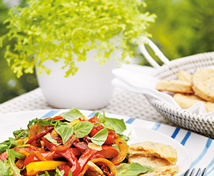 Warm Pepper & Tomato Salad