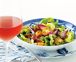 Bibb, Ham & Golden Tomato Salad with Herb Dressing