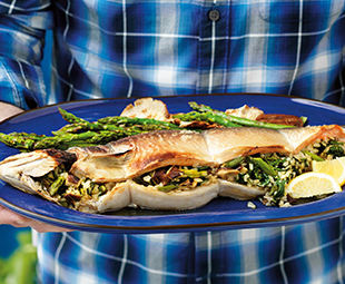 Stuffed Whole Fish with Japanese Seasonings