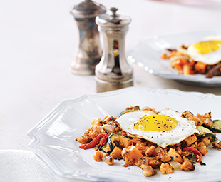 Hash Chorizo & Fried Eggs