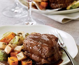Poached Beef Fillets with Vegetables in the French Manner