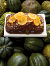Squash Gingerbread with Scotch Marmalade Drizzle