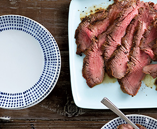 Grilled Flank Steak with Roasted Tomato Pesto