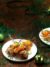 Lamb Meatballs with Roasted Peppers & Olives