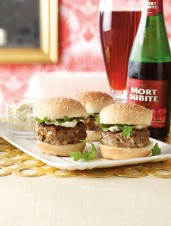 Lamb Sliders with Mint & Caper Mayonnaise