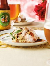 Beer-Glazed Pork Tenderloin with Gruyère & Cranberry Risotto
