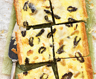 Goat Cheese, Garlic & Morel Quiche