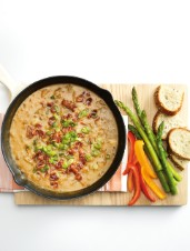 Ale-Braised Cheese Dip with Caramelized Onions & Maple Bacon