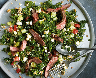 Flank Steak with Kale and Bulgur Salad