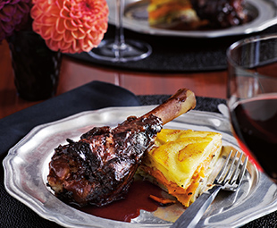 Red Wine & Juniper-Braised Lamb Shanks