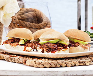 Shredded Brisket & Avocado Sandwiches