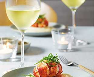 Butter-Poached Lobster & Smoky White Polenta