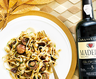 Pasta with Mushrooms & Chestnuts