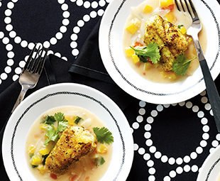 Curried Monkfish in Coconut Broth