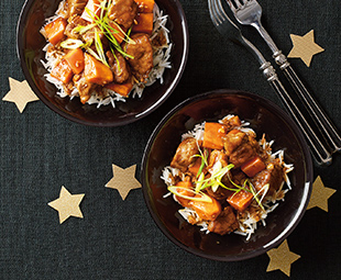 Adobo-Style Pork with Sweet Potato
