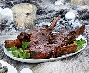 Spiced Short Ribs with Horseradish Butter
