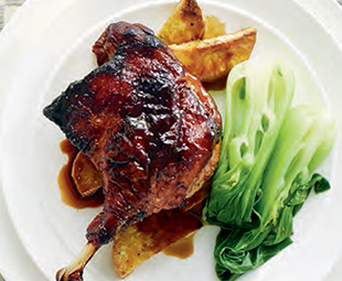 Crisp Peking Duck Legs with Rich Asian Sauce