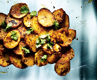Lemony Golden Potatoes with Smoked Paprika & Cilantro