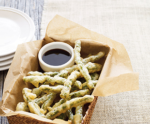 Tempura Fried Green Beans with Yuzu Dipping Sauce