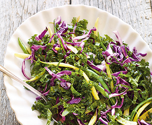 Red Cabbage, Kale & Bean Slaw