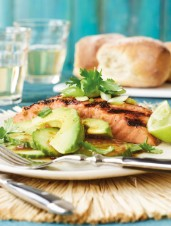 Australian Lime & Ginger-Grilled Salmon with Salad
