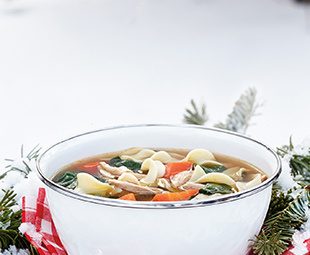 Lemon-Grass Chicken Soup with Egg Noodles