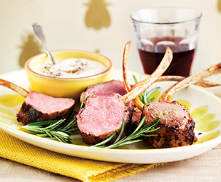 Honey-Garlic-Rosemary Lamb Chops