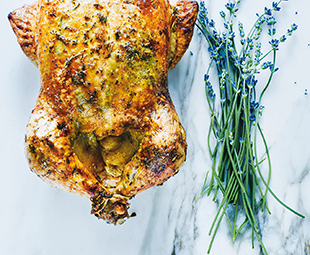 Roasted Chicken with Lavender & Provençal Herbs