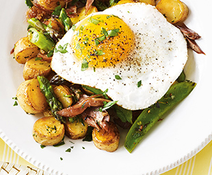 Duck Confit & Springtime Hash with Fried Duck Egg