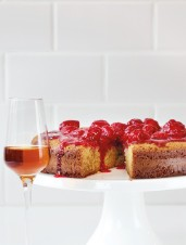 Almond Cake with Raspberry Compote