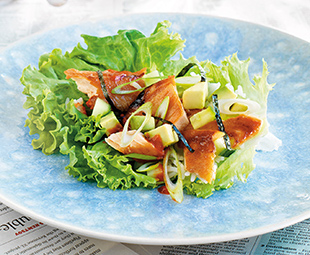 Lettuce Wraps with Miso-Glazed Arctic Char