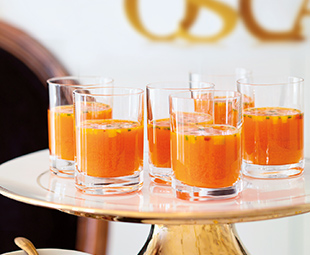 Carrot-Orange Gazpacho Shooters